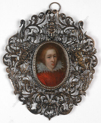 """""""Portrait of a young man"""", Dutch oil on copper miniature, early 17th century"""