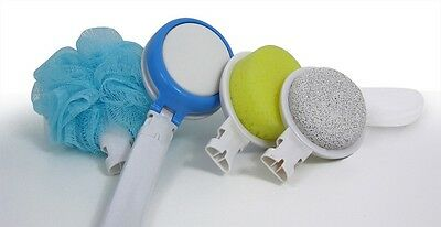 Long Handled Body Care Bath Set, Lotion Applicator, Loofah, Pumice And Sponge