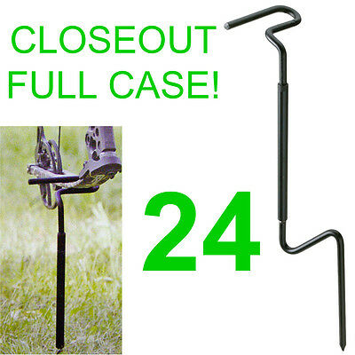Closeout Full Case! 24 New Allen Ground Stake Bow Holder,blind Hunting,5280