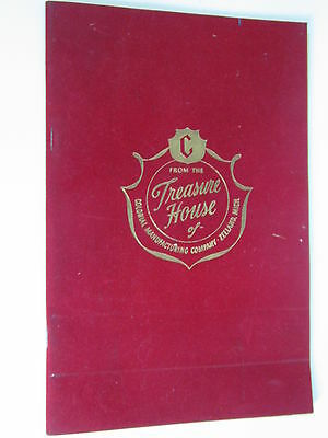 1956 COLONIAL MFG TREASURE HOUSE FURNITURE CLOCK GUIDE 48 PAGES ZEELAND MI
