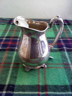 Rogers 1881, Glenrose, silver plated pitcher, 4 footed