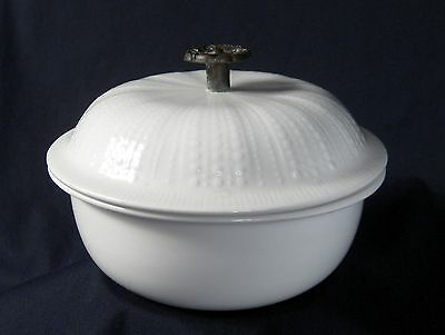 Franciscan Covered Candy Dish Metal Handle