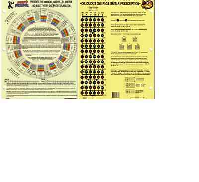 One Page Nashville Number System Harmony Music Theory Chart  Guitar Presciption