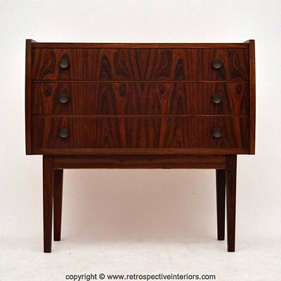 DANISH RETRO ROSEWOOD CHEST OF DRAWERS VINTAGE 1950's
