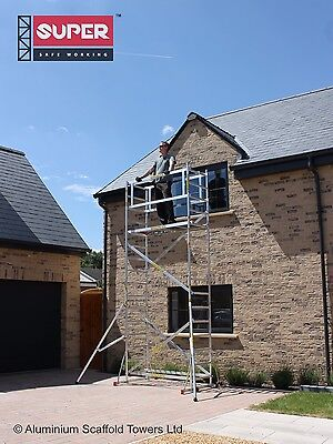 SUPER DIY 5M+ Aluminium Scaffold Tower/Towers Model S with 2 Outriggers by Loyal