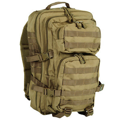 Military Backpack Assault Pack Rucksack Tactical Us Bag 36L Molle Hiking Coyote