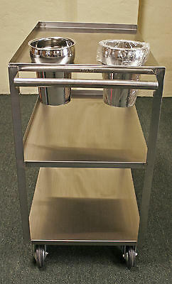 """BerGer 16"""" x 24"""" STAINLESS STEEL PUSH CART, Model# PC-188"""