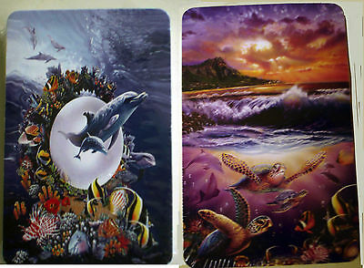 Two Decks Playing Cards - Dolphins Magical Kingdom & Turtle Friends - New