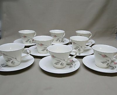 Knowles China DAWN ROSE by Kalla 8 Cups and Saucers