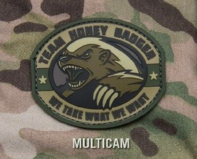 Team Honey Badger Pvc Rubber Multicm Tactical Badge Morale Military Patch