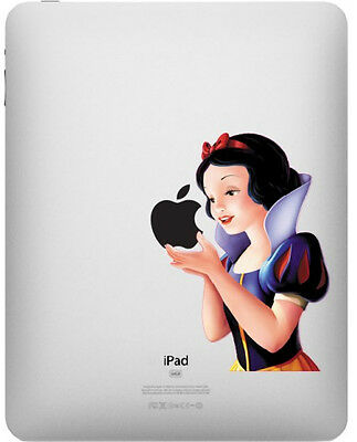 Snow White Eating Apple iPad 1/2/3 Vinyl Sticker Skin Decal Back Cover