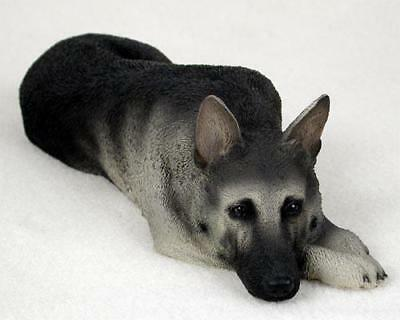 DFL08B CON German Shepherd Black & Silver My Dog Figurine