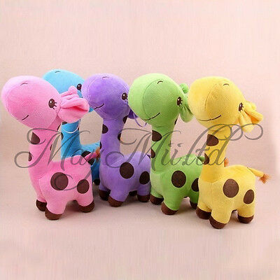 Lovely Giraffe Dear Soft Plush Toy Animal Dolls Baby Kid Birthday Party Gift H