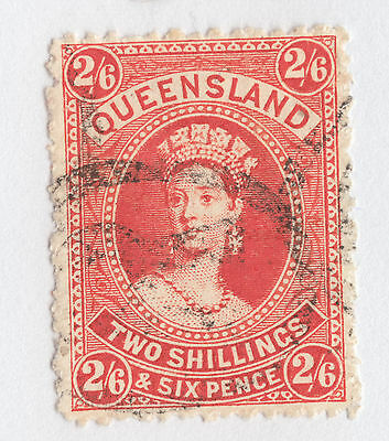 QUEENSLAND SG 162 2/6 Chalon *REGISTERED P'Mark* FINE USED