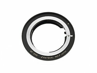 Kindai(Rayqual) Mount Adapter for EOS body to Nikon F Lens Made in Japan