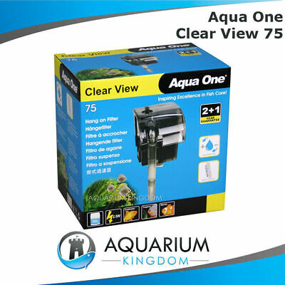 Aqua One ClearView 75 Hang On Filter - Aquarium Fish Tank Clear View 190L/H
