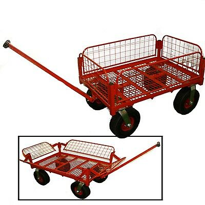 Warehouse Dolly Sack Truck Flat Bed Trolley Hand Cart 500Kg Capacity