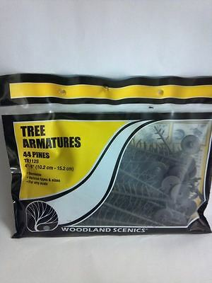 "Woodland Scenics Tree Armatures Pines 44  4""- 6"" Model Railroad Diorama TR1125"