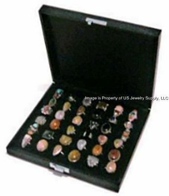 1 Wholesale Wide Slot Large 36 Ring Display Portable Sales Storage Box Case