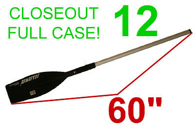 "Closeout! 12 New Seasense Aluminum Boat Paddles,60"" Canoe/Raft Oar,Floats"