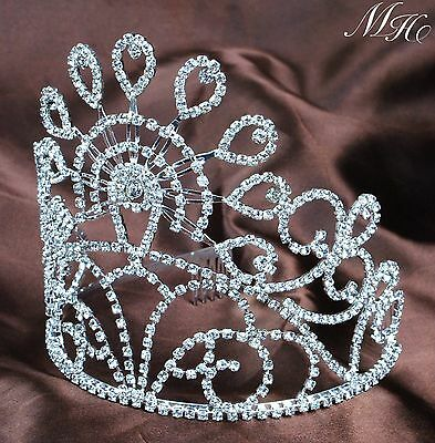 "Marvelous Bridal Tiara Hair Combs 5.5"" Crystal Crown Prom Pageant Party Headband"