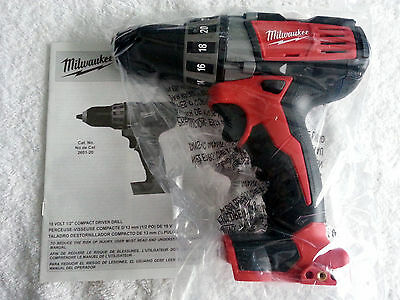 """*New* Milwaukee 2601-20 M18 18V Lithium-Ion 1/2"""" Cordless Drill /Driver"""