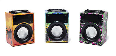 Altavoz Portatil Inalambrico Con Bluetooth Usb Tarjeta Tf Aux Luces Led Diseño
