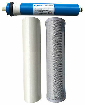 Reverse Osmosis 3 Stage RO Unit Replacement Pre Filters Including Membrane