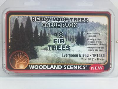 Woodland Scenics Ready Made Trees Fir Evergreen (18) TR1585 Model Diorama