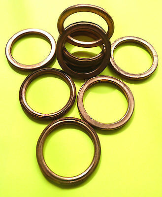 COPPER EXHAUST GASKETS SEAL HEADER GASKET RING 37mm OD, 28mm ID *NEW DESIGN* F37