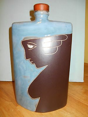 MAJA FLASK CERAMIC MEXICO NUMBERED HAND MADE
