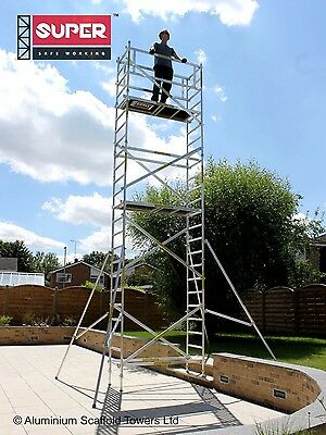 SUPER DIY 7.5M (Base Plates) - Aluminium Scaffold Tower/Towers Free Next Day Del