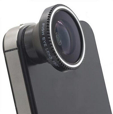 Magnetic Wide 180°Detachable Fish Eye Lens for iPhone 4 4G 4S Cell Phone HS88