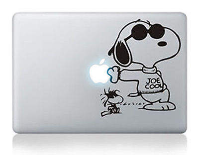 "Snoopy Joe Cool Apple Macbook Air/Pro/Retina 13/15/17"" Vinyl Sticker Skin Decal"
