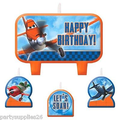 Disney Planes Party Supplies Candle Mini Moulded Pack Of 4
