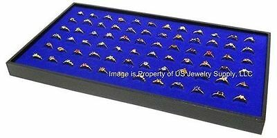 12 Blue 72 Ring Display Storage Stackable Trays