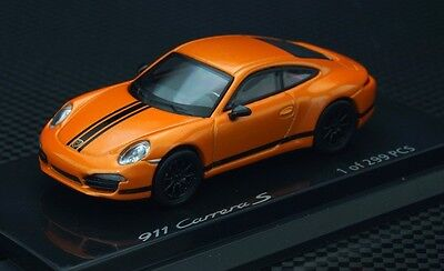 1:64 Porshce met. orange with black stripe 991  limited 299pcs