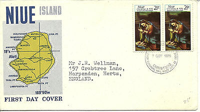 7/10/1970 Niue Islands First Day Cover FDC - Christmas 1970