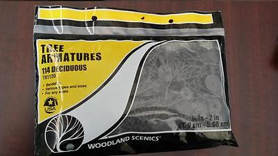 Woodland Scenics TREE ARMATURES (114) Deciduous #1120 Model Trains
