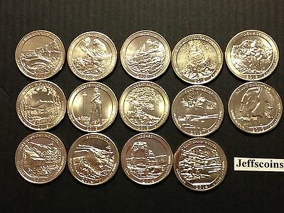 2014 S 2013 2012 S Mint National Park Quarters Complete 14 Coin Set Volcano ATBd