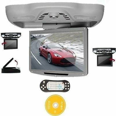 "Car 12.1"" Flip Down Overhead Roof Ceiling Monitor Screen DVD Player TV FM USB/SD"