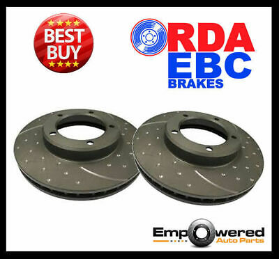 DIMPLED SLOTTED REAR DISC BRAKE ROTORS for Nissan Skyline V35 *296mm* 2002-2006