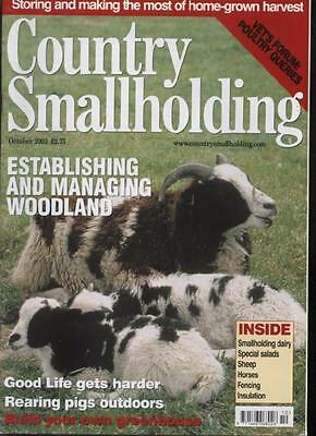 COUNTRY SMALLHOLDING MAGAZINE - October 2003
