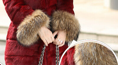 New Real Natural Fur Sleeve Cuffs Wrist Warmer Retail/Wholesale 31004