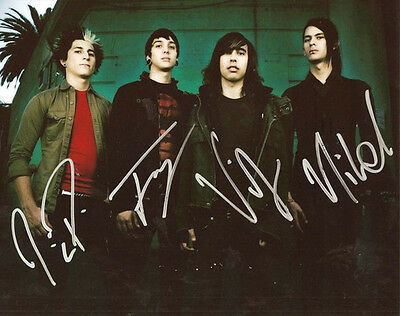 ** PIERCE THE VEIL BAND SIGNED PHOTO 8X10 RP AUTOGRAPHED VIC FUENTES