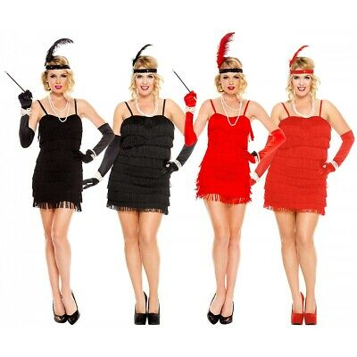 Flapper Girl Costume Adult Halloween Fancy Dress