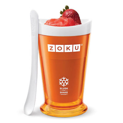 Zoku Slush & Shake Maker Frozen Slushie Milkshake Maker Orange