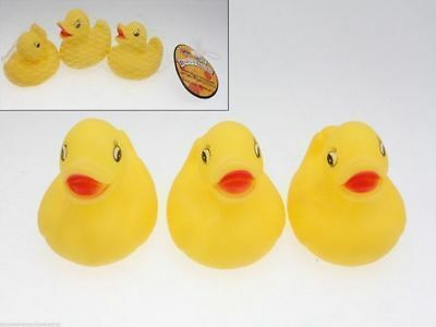 96 Packs of 3 Rubber Ducks duckies baby kids bath toy Bulk Wholesale Lot