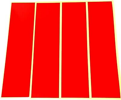 "RED REFLECTIVE STRIPS OF VINYL/TAPE 8"" x 2"" (rr4)"