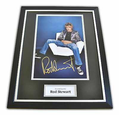Rod Stewart Signed Framed Photo Autograph Genuine Music Memorabilia Display COA